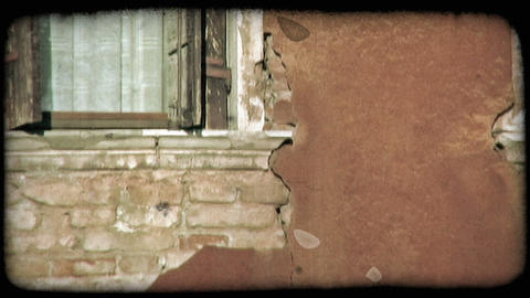 Brick Wall. Vintage stylized video clip Live Action