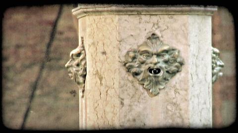 Column. Vintage stylized video clip Footage