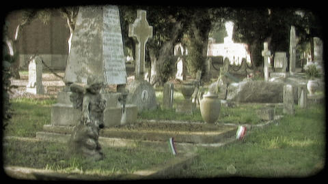 Italian Cemetery 6. Vintage stylized video clip Live Action