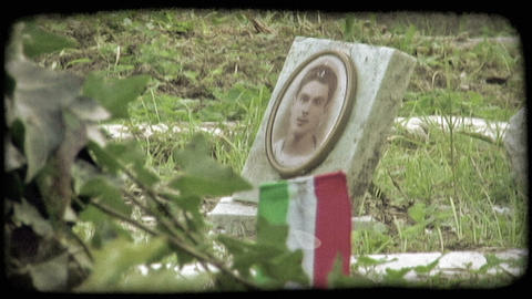 Italian Cemetery 20. Vintage stylized video clip Live Action