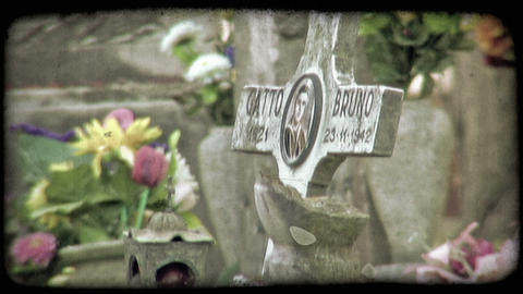 Italian Cemetery 22. Vintage stylized video clip Live Action