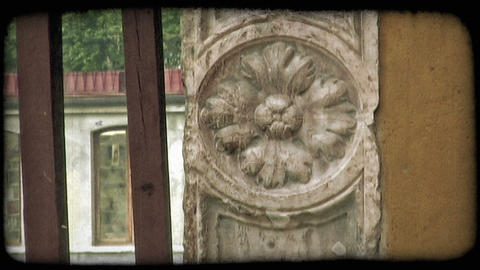 Italian Architecture 7. Vintage stylized video clip Footage