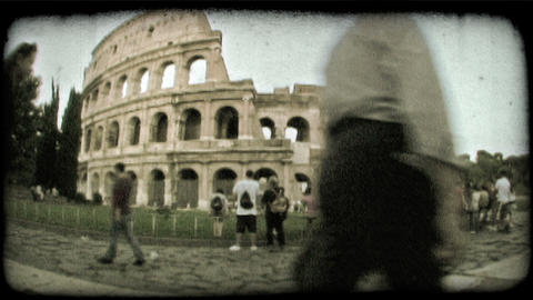 Colosseum 8. Vintage stylized video clip Footage