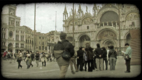 Italian Plaza 3. Vintage stylized video clip Live Action