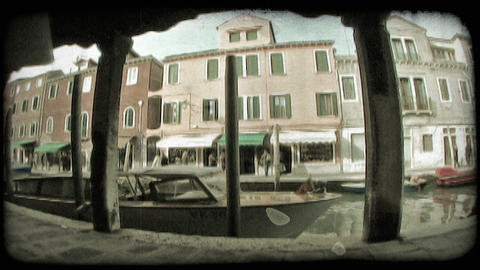 Venice Canal 6. Vintage stylized video clip Footage