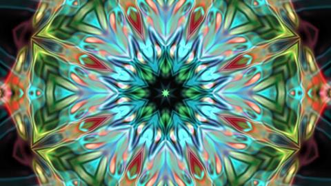 Beauty Flower Dark Kaleidoscope Loop Abstract Background Animation