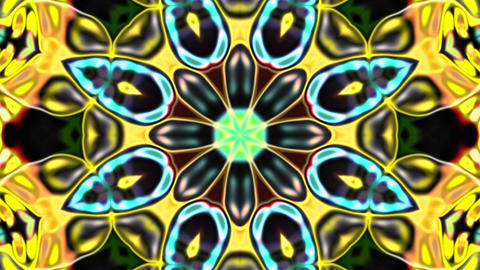 Beauty Flower Dark Kaleidoscope Loop Abstract Background Animation