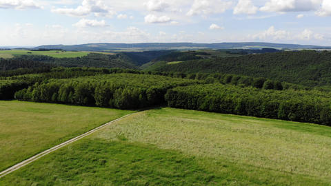 Flight over beautiful natural landscapes - aerial drone footage Live Action