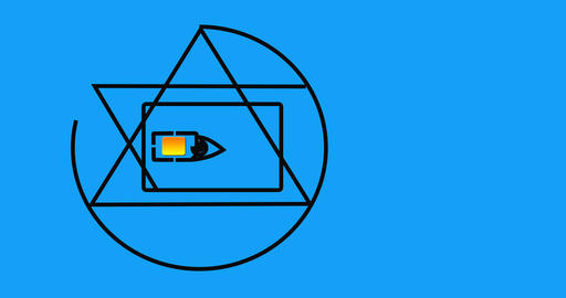 All-seeing eye in the SIM card Animation