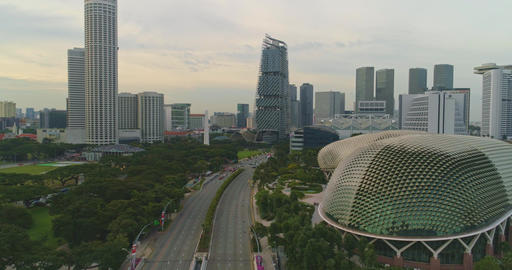 Zoom the panorama of the city of Singapore Footage