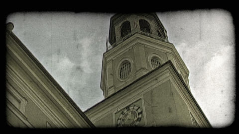 Austrian church 2. Vintage stylized video clip Footage