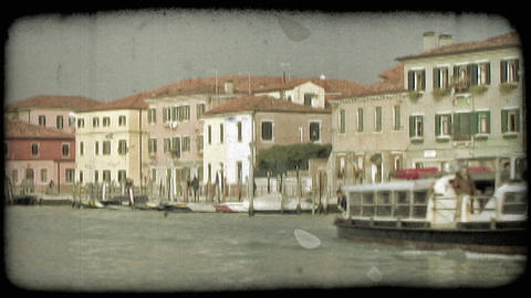 Venice Canal 10. Vintage stylized video clip Footage