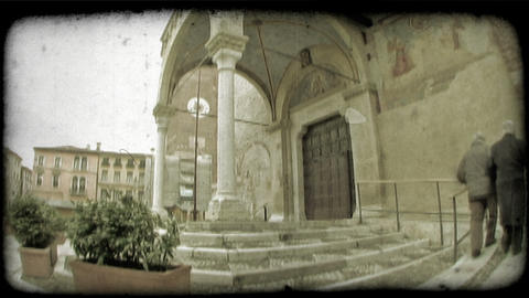 Cathedral Entrance 3. Vintage stylized video clip Live Action