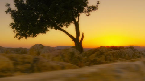 Sunset time-lapse of sunset on Mount Arbel near the Sea of Galilee. Cropped Footage