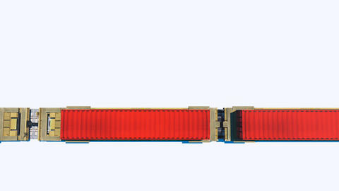 Cargo train containers top view loopable animation Animation