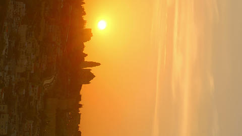 Vertical shot of Sunset time-lapse of Jerusalem from the Mount of Olives Footage