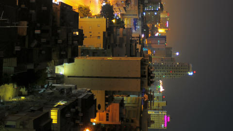 Vertical shot of Tel Aviv time-lapse of the city at sunrise Footage