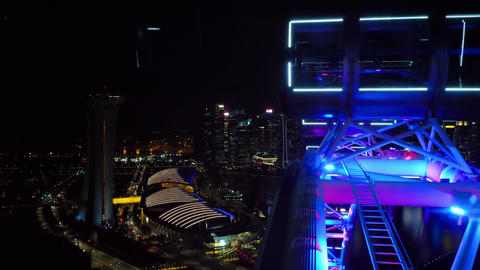 Cityscape view from Singapore Flyer GIF