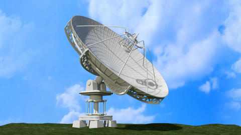 Satellite Dish Rotating CG動画素材