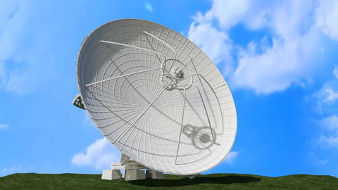 [alt video] Satellite Dish Rotating