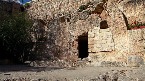 Stock Footage of the Garden Tomb in Israel Footage