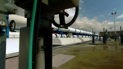 Stock Footage of desalination plant valves and pipes in Israel Footage