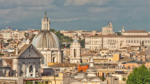 Panning time-lapse of the Roman cityscape Footage