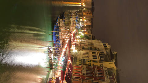 Vertical time-lapse of the Grand canal from Rialto bridge Footage