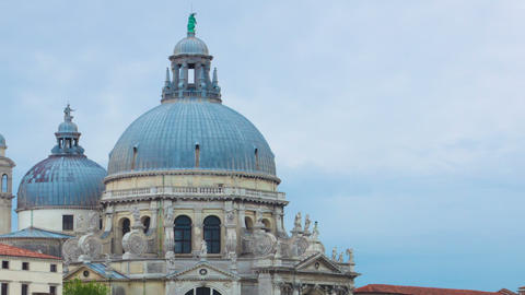 Time-lapse of Santa Maria della Salute from Piazza San Marco. Cropped Footage