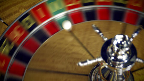 Close up of a roulette table spinning Footage