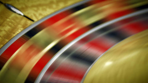 Roulette table spinning with the ball in a close up shot Footage