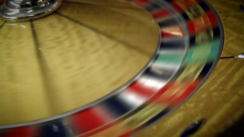 Close up of a roulette table turning Footage