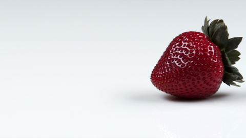 Panning across delicious looking strawberries Footage