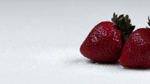 Panning across strawberries Footage