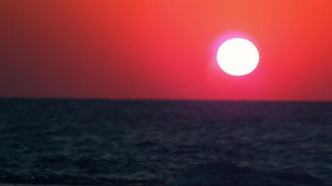 Royalty Free Stock Video Footage of a sunset and waves at Dor Beach shot in Isra Footage