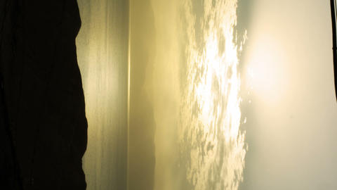 Royalty Free Stock Video Footage panorama of dawn at the Dead Sea shot in Israel Footage