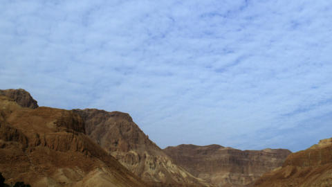 Stock Video Footage of clouds moving over desert mountains shot in Israel at 4k  Footage