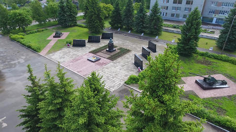 the memorial in the town of Tutayev Footage