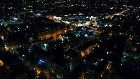 Night city with drone Footage