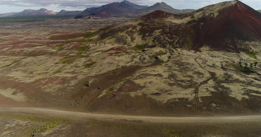 Iceland drone aerial video of nature landscape and mountains Footage