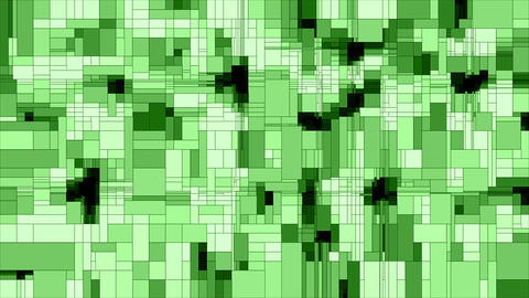 Green scanning squares animated background loop Videos animados