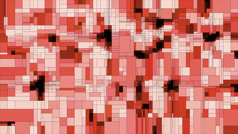 Red scanning squares animated background loop Videos animados