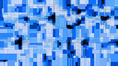 Blue scanning squares animated background loop Animation