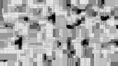 Gray scanning squares animated background loop Animation