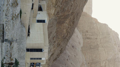 Royalty Free Stock Video Footage of the Masada Museum shot in Israel at 4k with  Footage