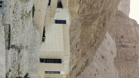 Royalty Free Stock Video Footage of Mount Masada Museum shot in Israel at 4k wit Footage