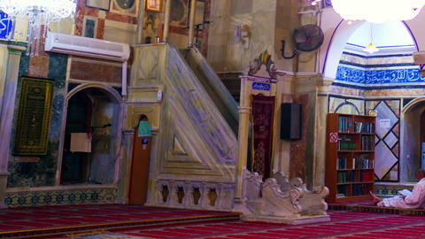 Stock Video Footage of the inside of a mosque filmed in Israel at 4k with Red Footage