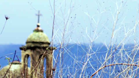 Stock Video Footage of an old Christian church near Banias shot in Israel at 4k  Footage