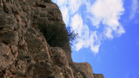 Royalty Free Stock Video Footage of Nimrod Fortress walls shot in Israel at 4k w Footage