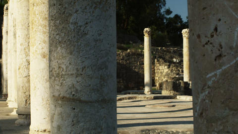 Royalty Free Stock Video Footage of ancient columns shot in Israel at 4k with Re Live Action